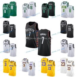 NCAA College Баскетбол Кевин 7 Трикотажные изделия Durant Kyrie 11 1 Ирвинг Энтони 3 Дэвис Джерси Леброн 23 Джеймс Кемба 8 Уокер Мужчины Женщины Молодежь Дети на Распродаже