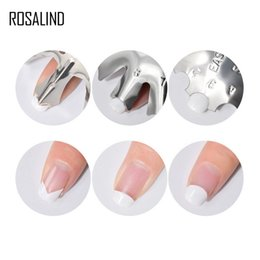 make stamps NZ - ROSALIND Template 1PCS French Manicure Modeling Shaping Stainless Stamping Plates For Crystal Nails Making Art manicure Tools
