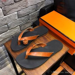 $enCountryForm.capitalKeyWord NZ - 2019 New style on the market, black ,brown,Orange leather slippers, Cheap and fine flip-flops, size 38-44