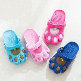 122fb61ce504e Baby Sandals Bottom UK - cartoon bear paw shoes children summer sandals baby  boy girls hole