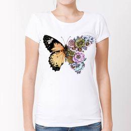 e7e2c5574 Butterfly t shirt design online shopping - New Summer Women T shirt  Colorful Butterfly In Bloom