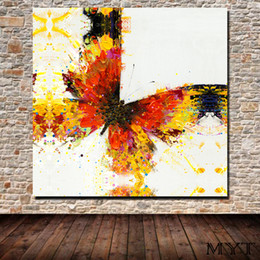 Canvas Prints Free Shipping Australia - Free shipping HD printed animal color butterfly Wall art Picture Home Decor for Living Room on Canvas Printing Oil Painting no framed