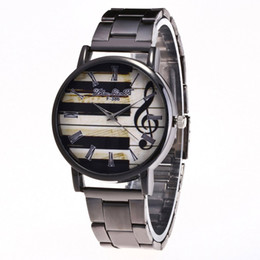 luxury watch slim 2019 - GENBOLI Quartz Watch Luxury Slim Steel Mesh Strap Piano Pattern Round Dial Precise Quartz Watches Exquisite Workmanship