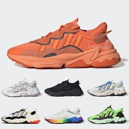 sneakers for jogging Canada - Brand Ozweego Pride 3M Reflective Xeno Running shoes For Men Women Neon Green Solar Yellow Halloween Tones Core Black Trainers Sneakers