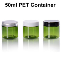 $enCountryForm.capitalKeyWord Australia - 80 X 50ml Clear Green PET Jars w  Cap Plastic   Metal Screw Lid Empty Cream Cosmetic