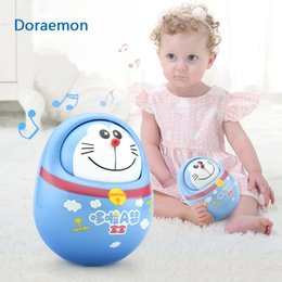 baby rattles Australia - Doraemon Baby Mobiles bell Nodding Tumbler rattles Fun for Newborn Gift anti-stress Educational Toys For Baby 0-12 Months T200429