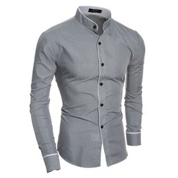 Shirt Korean Designs Australia - Fashion New Long Sleeve Shirts Men Korean Slim Design Cotton Casual Male Dress Shirts Summer-Autumn Shirts for Man