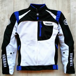 Nylon Mesh Motorcycle Jacket Australia - Summer Mesh Motorcycle Jackets Moto Racing Windproof Jackets fit for Yamaha Motor With 5pcs Protectors Men Motorbike Jacket