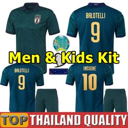 football italy NZ - European league 2019 2020 Italy third soccer jerseys CUP 19 20 Verratti Jorginho Romagnoli football shirt Men Kids Kit uniform
