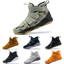 reputable site 08840 7ffb4 2019 new James Soldier XI 11 Navy Blue men Kids Basketball Shoes LeBron  Soldier XI 11 Black Red White sports sneakers