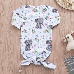$enCountryForm.capitalKeyWord Australia - Ins New Infant Baby Cartoon Sloth Elephant Swaddle Sleeping Bags Newborn Baby Boys Girls Baby Cotton Cocoon Sleep Sack T14086