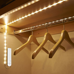 $enCountryForm.capitalKeyWord Australia - Led Under Cabinet Light Led Strip Led Lamp With Wireless Motion Sensor Usb Port Light Closet Stairs Wardrobe Bed Side Light