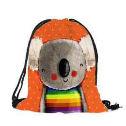 8613eb0766 Kindergarten Kids Drawstring Bags Cartoon Animal Koala Bear 3d Printing  Backpack For Teenagers Fashion Design Travel Package