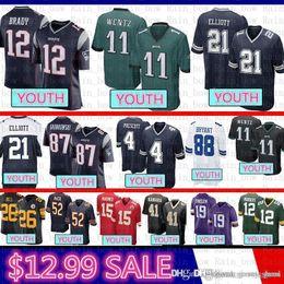 2df3453ac good Youth Dallas Jersey Cowboys 4 Dak Prescott 21 Ezekiel Elliott  Philadelphia Eagles 11 Carson Wentz Patriot 12 Tom Brady 87 Rob Gronkowsk