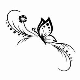 $enCountryForm.capitalKeyWord NZ - 13.6*11.9CM butterfly flower art car sticker laptop decal CA-658
