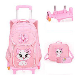 kids backpacks wheels Canada - School wheeled backpack bag for Girls Rolling backpacks bag Children Wheeled bags kids School backpack On wheels Trolley bags