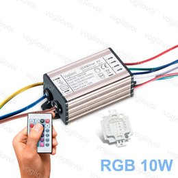 ac rgb led driver Canada - LED Transformer RGB 10W AC110V AC220V AC 240V Waterproof IP65 Aluminum Silvery Driver With RGB 10W 30MIL LED Chip 24key controller Epacket