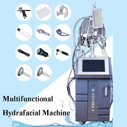 Ultrasonic hot cold machine online shopping - Hot in Hydra dermabrasion Ultrasonic RF BIO Cold Hammer Oxygen Spray Led Mask Face Lifting Skin Tightening Hydra Facial Machine