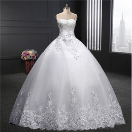 $enCountryForm.capitalKeyWord Australia - 2019 Plus Sizes New Fashion Sweetheart Floor Length Applique Puffy Bride Married Wedding Gowns Ball Gown Wedding Dresses