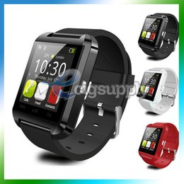 smart watch samsung NZ - U8 Bluetooth Smart Watch Touch Screen Sport Wrist Watches For iPhone IOS Samsung Android Sleeping Monitor Smartwatch With Retail Package