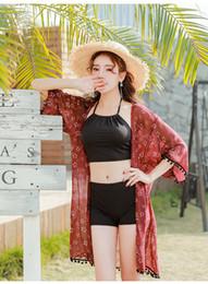 $enCountryForm.capitalKeyWord Australia - Bikini Beach Resort Hot Spring Three-piece Swimsuit Bathing Suits Shivering Conservative Swimwear With Steel support Chest Pad ZH0026