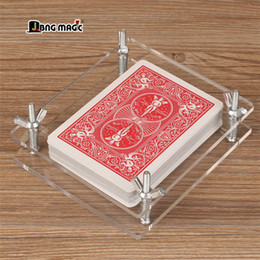 magic crystals NZ - Crystal card holder Bicycle playing card correction acrylic Deformed expansion finishing JBNG MAGICcard restores Magic accessories