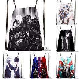 Tokyo ghoul bags online shopping - Custom Tokyo Ghoul Kaneki Ken Drawstring Backpack Bag Cute Daypack Kids Satchel Black Back x40cm