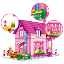 $enCountryForm.capitalKeyWord Australia - 523pcs Girl Play House Assembling Blocks Toys Compatible Friends City Princess Villa Educational Toys For Children Gifts J190719