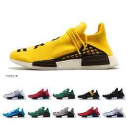 b5bd1d80c 2019 Human Race NMD Runing Shoes With Box Men Women Solar Pack Black Yellow  PW HU HOLI Pharrell Williams Designer Sport Sneakers
