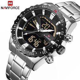 $enCountryForm.capitalKeyWord NZ - Top Luxury Brand Naviforce Men Sport Military Watches Men's Quartz Clock Analog Digital Waterproof Wrist Watch Relogio Masculino Y19052103