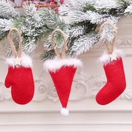 $enCountryForm.capitalKeyWord Australia - Christmas glove boot hat Ornaments Cute Xmas Tree Hanging Decorations Door Wall Pendant New Year Christmas Decorations
