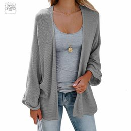 $enCountryForm.capitalKeyWord NZ - Bat Sleeve Casual Cardigan Long Sweaters Fashion Autumn Woman Loose Coat Knitted Cardigans Women Drop Shipping