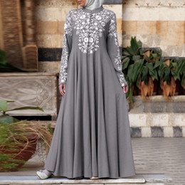 Wholesale moroccan clothing resale online - Dress For Bangladesh Dubai Abayas For Women Hijab Party Dress Arabic Caftan Moroccan Femme Muslim Dress Islamic Clothing