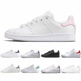 cheap green shoes NZ - Brand Smith PINK Casual Shoes Cheap Raf Simons Stan Smiths Spring Copper White Green Black Fashion Leather Women Wen Shoes 36-45