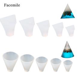 $enCountryForm.capitalKeyWord Australia - Facemile 12 PCS set Crystal Cone Pyramid Epoxy Chocolate Transparent Silicone jewelry molds DIY Cake Decor Biscuit Fondant Bakeware Mould
