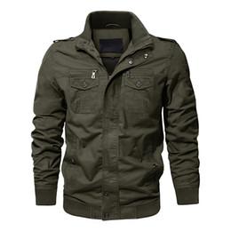 Army combAt coAt online shopping - Jackets Men Army Cargo Jackets Tactical Combat Jacket Coat Solid Bomber Pilot Coat Autumn AG SSFC