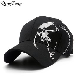 $enCountryForm.capitalKeyWord Australia - Embroidered Skull Cap For Men Cotton Sports Baseball Caps Fashion Black Pattern Women Snapback Army Male Cap Hip Hop Bone