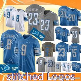 95fd884e78e Lions 9 Matthew Stafford 20 Barry Sanders jersey Detroit Lions Mens 15 Golden  Tate III 23 Darius Slay Football Jerseys