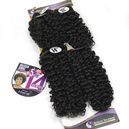 """$enCountryForm.capitalKeyWord Australia - Synthetic Culry Weave Black Hair 5pcs PACK 8""""8""""10""""12""""14""""inch Jerry Curly Diva Curl Natural Wet and Wavy Hair Extensions For Women"""