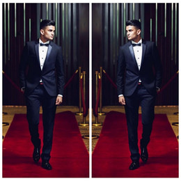 $enCountryForm.capitalKeyWord Australia - 2020 Custom Formal Men Celebrity Suits For Wedding Slim Fit Groomsmen Tuxedos One Button Bridegroom Prom Suit Two Pieces (Jacket+Pants+Bow)