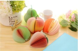 fruit memo note UK - Fruit shaped memo pad Red Apple green pear Fruit Note Paper Memo Pad sticker notepads