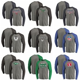 T Shirt Compressed Australia - Philadelphia Eagles Raiders Oakland Jets New York New York GiantsPro Line by Fanatics Branded Freedom Long Sleeve Tri-Blend Raglan T-Shirt