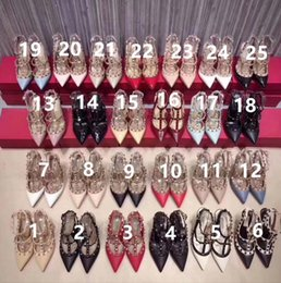 Ivory Color Nude Dress Australia - Women high heels dress shoes party fashion rivets girls sexy pointed toe shoes buckle platform pumps wedding shoes 51