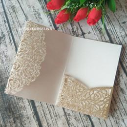 $enCountryForm.capitalKeyWord Canada - 2019 Light Gold Laser Cut Trifold Pocket Wedding Invitation Cover, DIY Invitation Envelope for Quinceanera Birthday Sweet 16th Invite