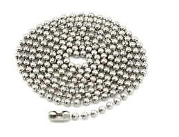 Stainless Steel Ball Chain Bracelet UK - Stainless Steel Silver Ball Beads Chain Men Necklace Bracelet Jewelry Making Accessories