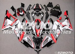 3 cadeaux Nouveaux kits de carénage en ABS pour YAMAHA YZF-R6 08-16 Année YZF600 2008 2009 2010 2011 2011 R6 Kit carrosserie Personnalisé Blanc Rouge en Solde