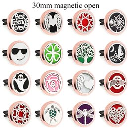 $enCountryForm.capitalKeyWord Australia - angel wing turtle rose gold Magnet Open Car Diffuser 30mm Essential Oil Car Perfume Locket Vent Clip Car air freshener 10pcs free oil pads