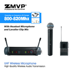 $enCountryForm.capitalKeyWord NZ - Professional SLX214 UHF Wireless Karaoke System with Handheld Microphone Bodypack Transmitter Headset Lavalier Clip Mic