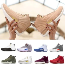 b8bf9d5f6 High Quality 2019 New 12s CNY Chinese New Year Men Basketball Shoes 12 CNY  White Black Gold Sports Shoes Training Sneakers With Box
