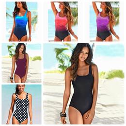 Cross neCk swimsuit online shopping - One Piece High Neck Bandage Swimsuit Large Size Sexy Female Women Swimwear Criss Cross Back Colors Monokini IIA227